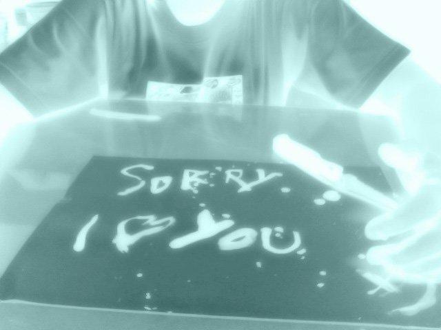 emo blood sorry I love you