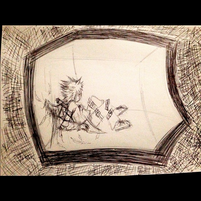 I draw this at night, when I feel so depressed after overthinking, worrying about everything.